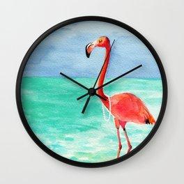 Shrimping in Pearls Wall Clock