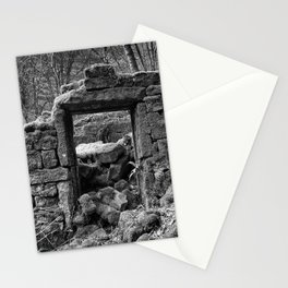 ruined house in the woods Stationery Cards