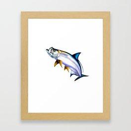 Tarpon Jump Framed Art Print