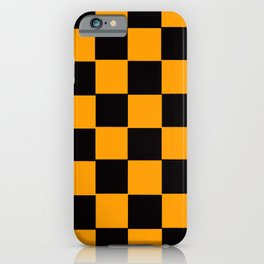 Golden Yellow & Black Chex 2 iPhone Case
