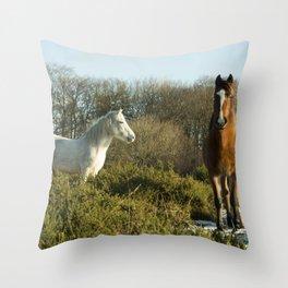 Beacon Horses Throw Pillow