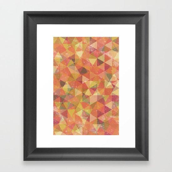 Triangle Pattern III Framed Art Print