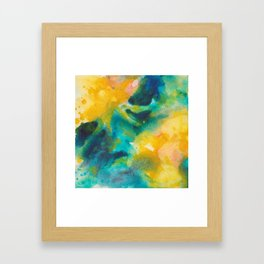 Summer Evening Abstract Watercolor Painting Framed Art Print