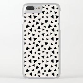 Geometric Dot Clear iPhone Case