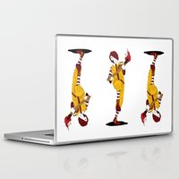 french fries Laptop & iPad Skins featuring McDonald's Burn French Fries by pexkung
