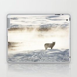 Yellowstone National Park - Wolf and Hot Spring Laptop & iPad Skin