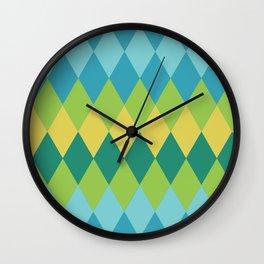 Exotic vintage geometrics Wall Clock