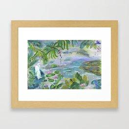 Pond in the Morning Framed Art Print