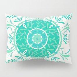 Leaflets – Mint Ombré Palette Pillow Sham