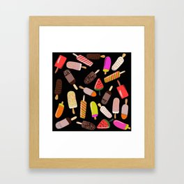 Take your pick of ice cream on a stick Framed Art Print