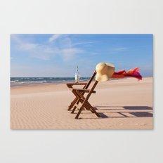 Windy Beach Day Canvas Print