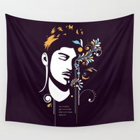 zayn Wall Tapestries featuring One Illustration - Zayn by Art of Nanas