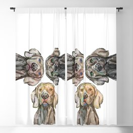 Triple Hunting Dogs Blackout Curtain