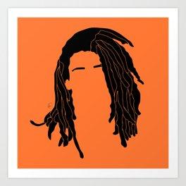 light orange Art Print