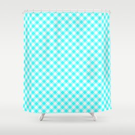 Gingham - Baby Blue Shower Curtain