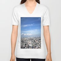 tokyo V-neck T-shirts featuring tokyo by signe constable