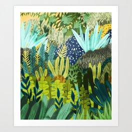 Wild Jungle || #illustration #painting Art Print
