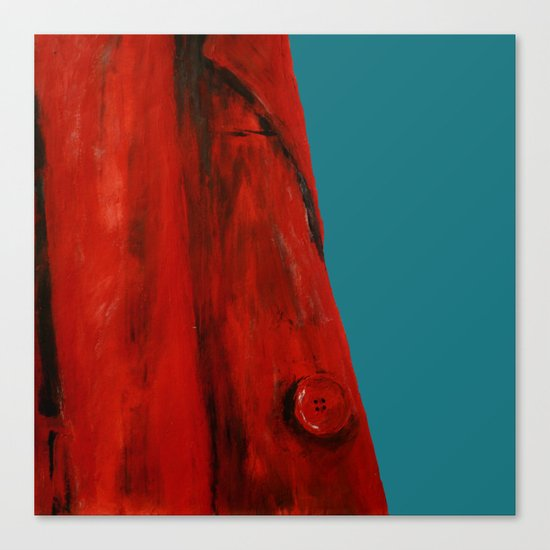 Red Coat Blue Edit Canvas Print