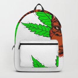 Halloween Weed Cannabis Gorila Backpack