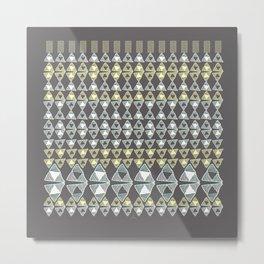 Ethnic Ornament / Canarys Curtain Metal Print