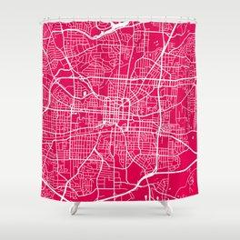 Greensboro map raspberry Shower Curtain