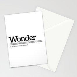 Definition of Wonder Stationery Cards