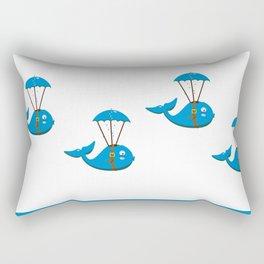 Whale skydiving V6S2 Rectangular Pillow