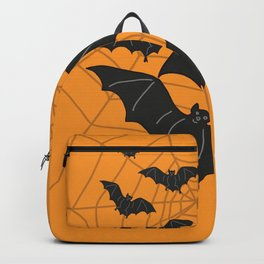 Flying Bats orange Backpack