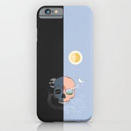 Renewal-Death-Life-Spring-Skull-Bird iPhone Case