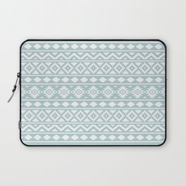Aztec Essence Ptn III White on Duck Egg Blue Laptop Sleeve