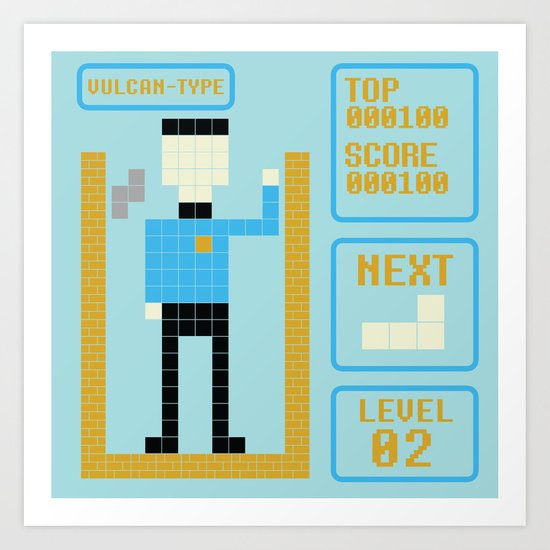 TETRIS: Vulcan Type Art Print