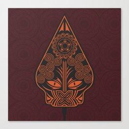 Wayang Red Canvas Print