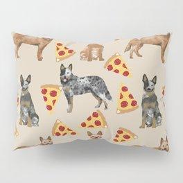 Australian Cattle Dog pizza slice pet friendly dog breed dog pattern art Pillow Sham