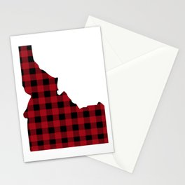 Idaho - Buffalo Plaid Stationery Cards