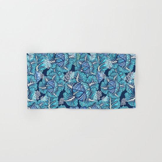 blue winter cabbage Hand & Bath Towel