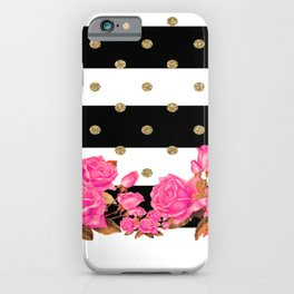 Goldy Flowers iPhone Case