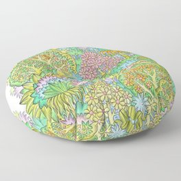 Middle of the forest Floor Pillow