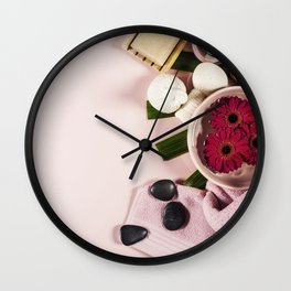 spa background Wall Clock