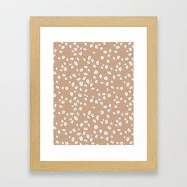 PEACH PEBBLES Framed Art Print