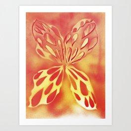 Imprinted Butterfly Art Print