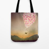 never stop exploring Tote Bags featuring NEVER STOP EXPLORING V by Monika Strigel