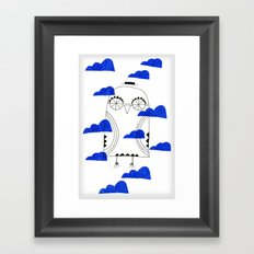 Blue Clouds Framed Art Print