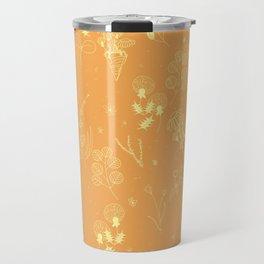Flower Party (Orange) Travel Mug