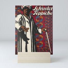 affisso schuster teppiche arabe Mini Art Print