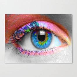 ojo rosado Canvas Print