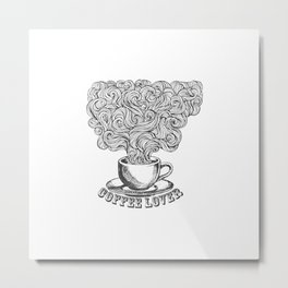 Coffee afficionado Metal Print