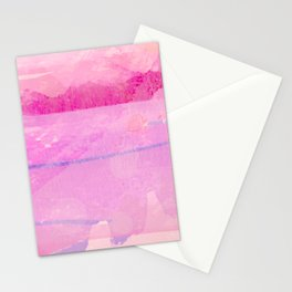 Santa Fe Air Abstract in Pink, Lilac Stationery Cards