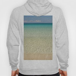 Crystal clear turquoise shaded waters of a sandy beach Hoody