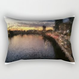 Brisbane River - A Beautiful Digital Painting Print Rectangular Pillow