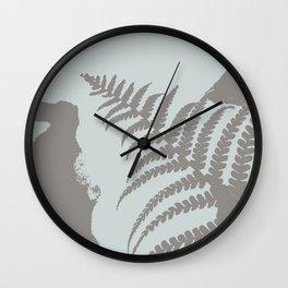 Winter Leaf Wall Clock